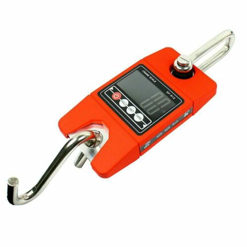 300KG/600LBS x 100g Digital Hanging Scale SF-912 Industrial Crane Scale-Red