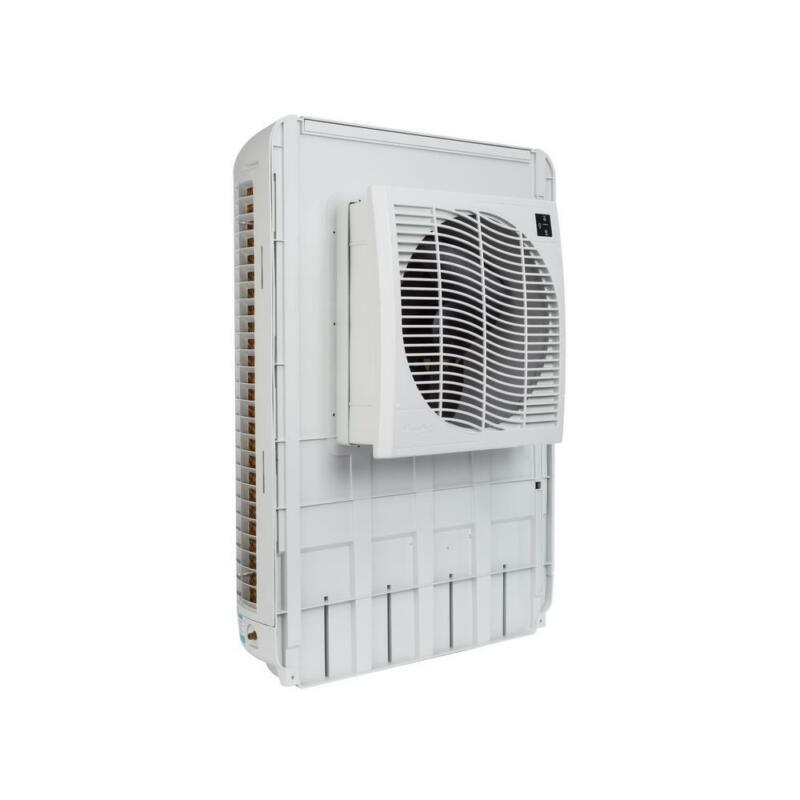 Window Swamp Cooler Slim Profile Evaporative 3200 CFM Commercial Fan 1600 sq ft.