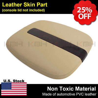 2007-2011 Cadillac Escalade Leather Center Console Lid Cover Armrest Beige Tan