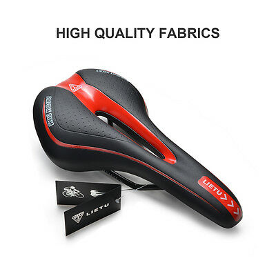 New Black MTB Cycling Road Mountain Bicycle Cushion Seat Saddle Anti-skid Soft