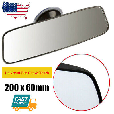 Universal Interior Rear View Mirror Suction Rearview Mirror for Car Truck US