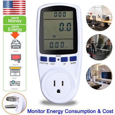 Quality Digital Lcd Power Saving Energy Monitor Watt Amp Volt Kwh Meter Analyzer
