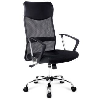PU Leather Mesh High Back Office Chair