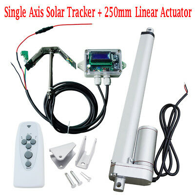 1kw Tracking Single Axis Sunshine Tracker System 10 Linear Actuator Controller