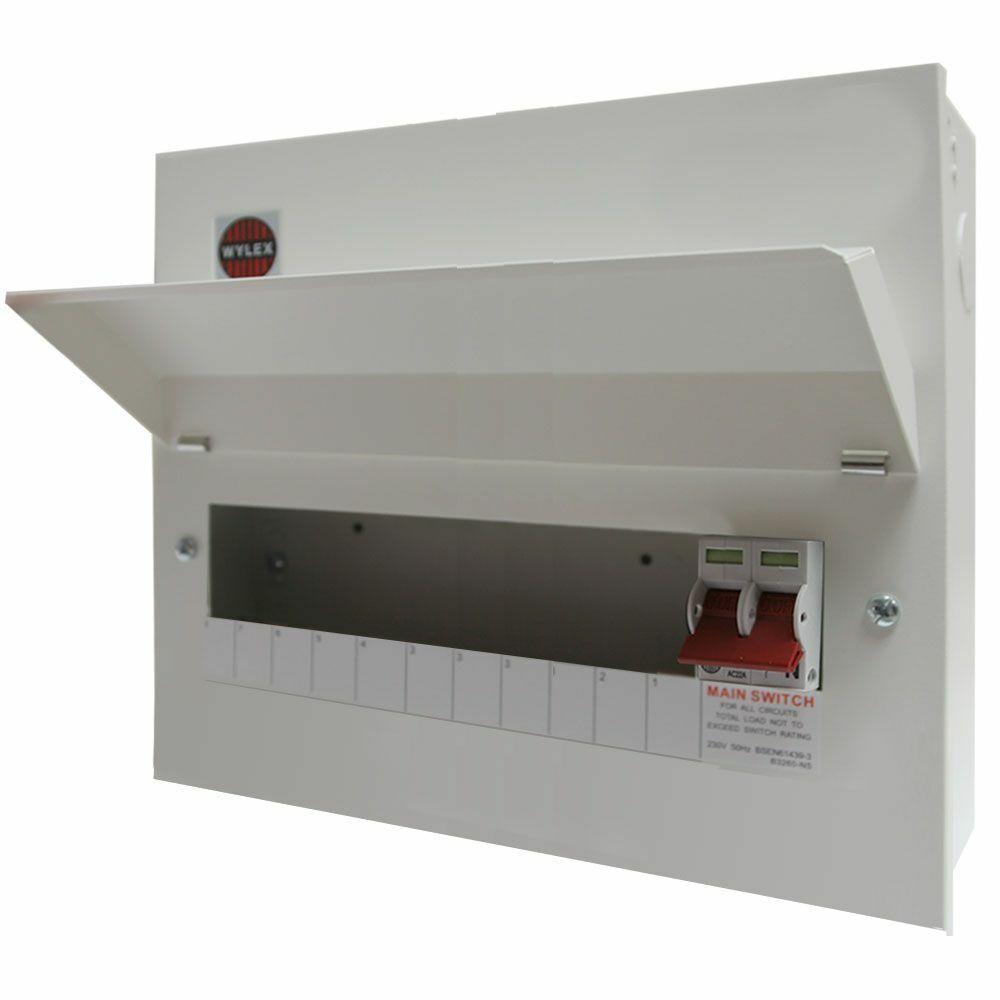 Wylex NM1106L Amendment 3 Metal Clad 11 way Consumer Unit with 100A Main  Switch | eBay | Wylex 3 Way Consumer Unit Fuse Box |  | eBay