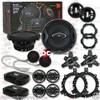NEW JBL GTO609C 6.5-INCH 2-WAY CAR AUDIO COMPONENT SPEAKER SYSTEM 6-1/2