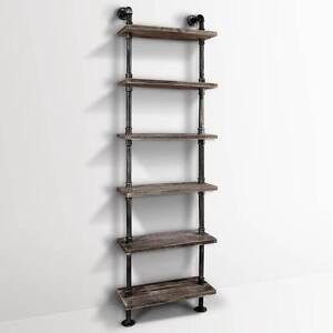 FREE SHIPPING - DIY Industrial 6 Level Pipe Shelf Melbourne CBD Melbourne City Preview