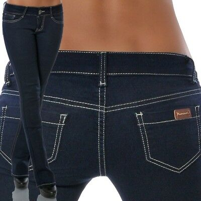 Damen Bootcut Jeans Hose Hüftjeans Hüfthose Schlag Hüfthosen Low Rise Stretch Low Stretch Bootcut Jeans
