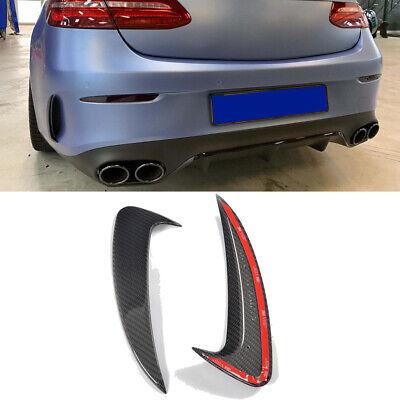 Für Mercedes C238 Coupe Carbon Heck Flossen Flaps Spliter Stoßstangen Canards