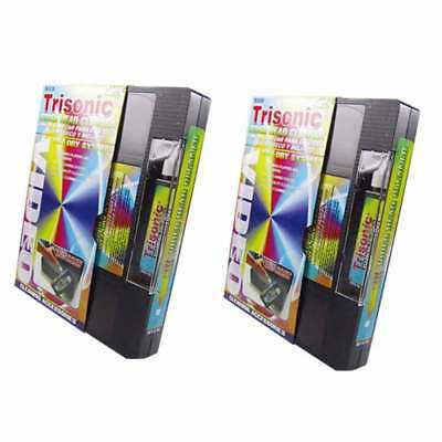 2 Head Cleaning Video Tape Cassette For VHS VCR Player Recor