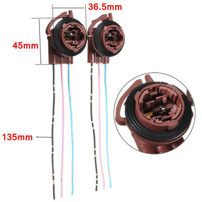 2x 3157 4157 Bulb Socket Brake Turn Signal Light Harness Wire Plug Connector (2004 Jeep Grand Cherokee Brake Light Bulb)