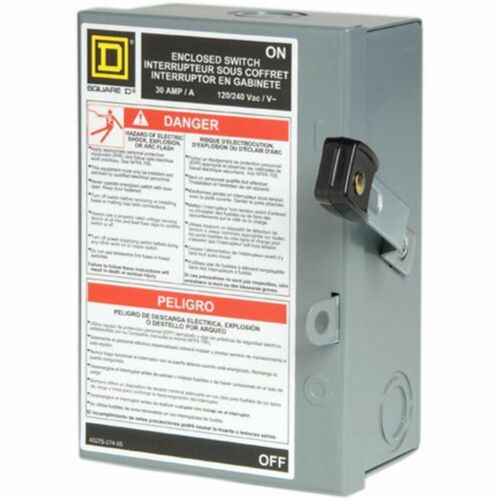 30 Amp Disconnect Electric 2 Pole Light Duty Safety Switch Neutral Residential 1