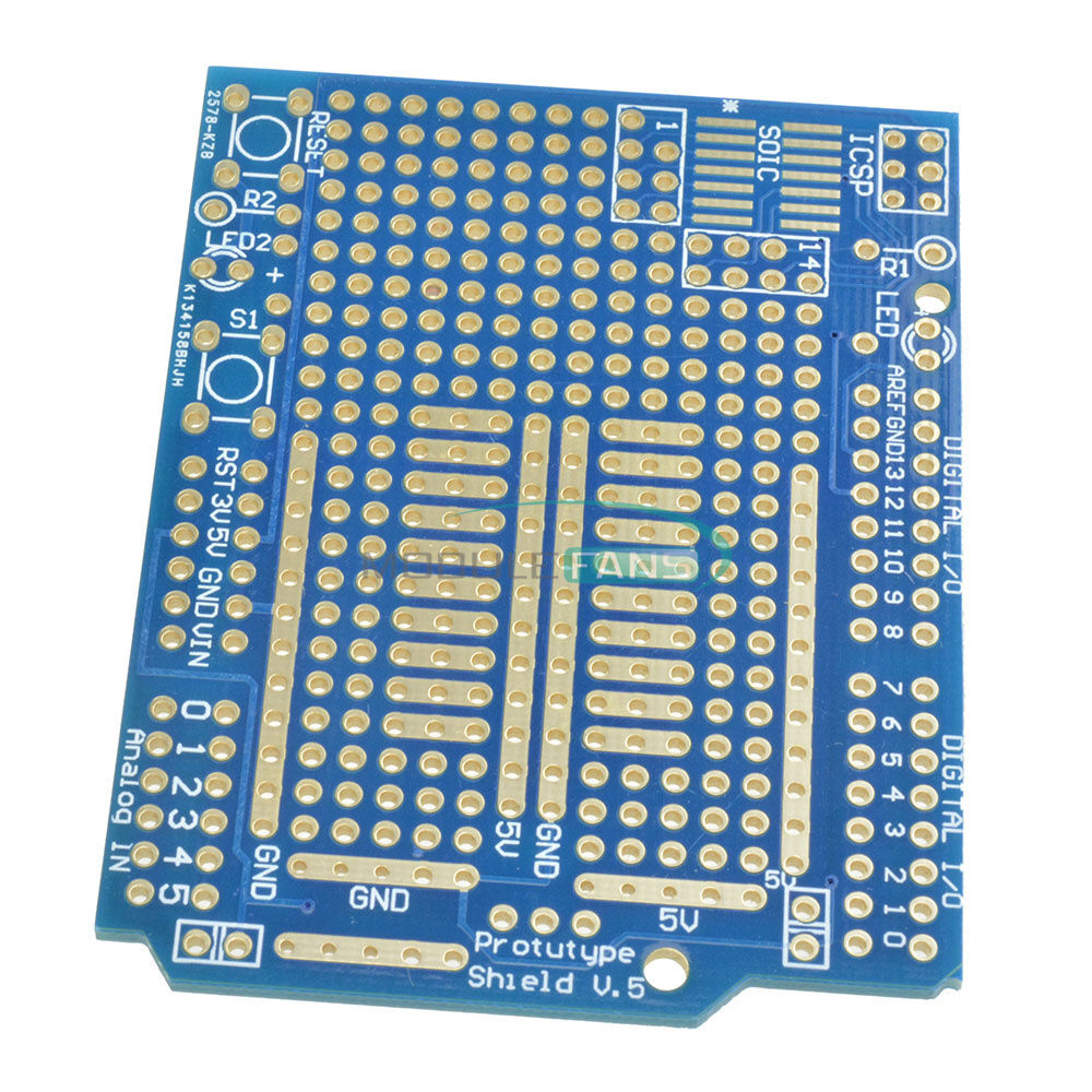 Combo 2mm+2.54mm Pitch. Prototype PCB for Arduino UNO R3 Shield Board DIY