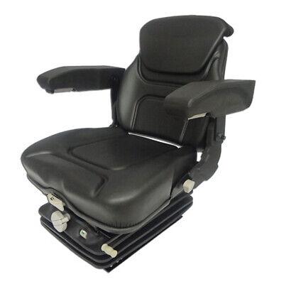 Vam1270 Tractor Seat Assembly Black Vinyl Seat W Arm Head Rest