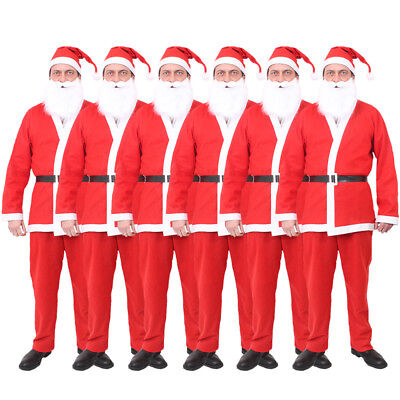 BULK BUY ADULT SANTA SUIT FATHER CHRISTMAS FANCY DRESS COSTUME MENS XMAS OUTFIT - Buy Fancy Dress Costumes