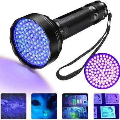100 Led Ultra Violet UV Flashlight Rechargeable Blacklight Inspection Outdoor