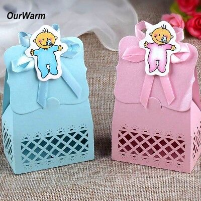 12Pcs Sweet Favour Candy Box Gift Bag for Baby Shower Birthday Party Table