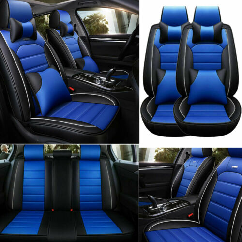US PU Leather Seat Cover Universal For Cars Protector 5-Sit Interior Accessories
