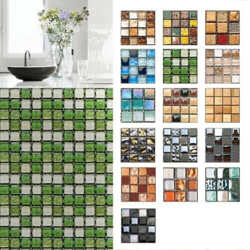 Home Decoration - UK Mosaic Stick On Self Adhesive Wall Tile Sticker Kitchen Bath Home Decor