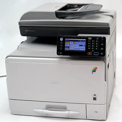 Ricoh Aficio Mp C305spf A4 Color Laser Printer Copier Scanner Mfp 30ppm