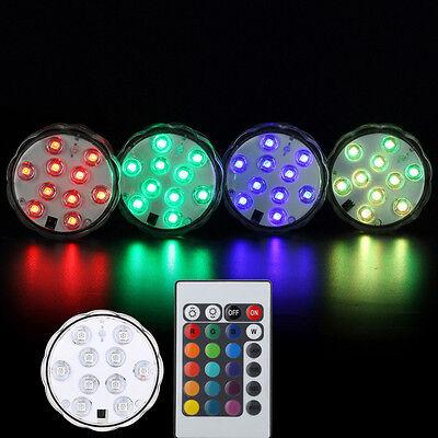 2x  RGB LED Unterwasserlicht Unterwasser Lampe Poolbeleuchtung Aquarium Leuchte