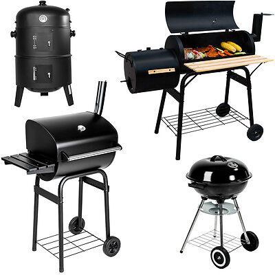 BBQ Barbecue Charcoal Smoker Grill with Temperature Display