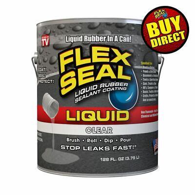 Flex Seal Liquid - Liquid Rubber Sealant Coating - Giant 128oz Clear