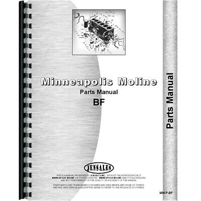 New Parts Manual For Avery Bf Tractor