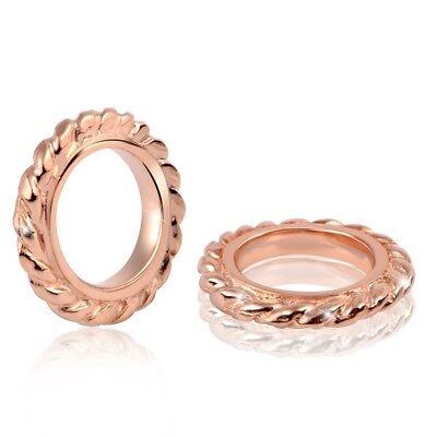 MATERIA PREMIUM 2 Rosegold Beads Zwischenelemente Silber 925 für Beads Armband