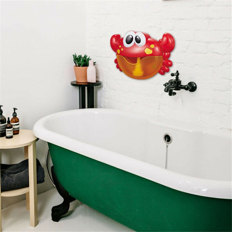 Bath Toy For Baby Bubble Machine Big Crab Automatic Bubble M