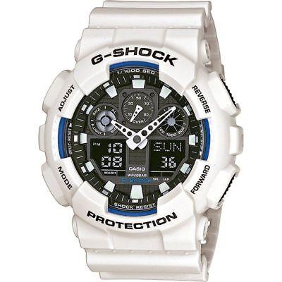 Casio G-Shock Dual Display Chronograph Resin Strap Gents Watch GA-100B-7AER