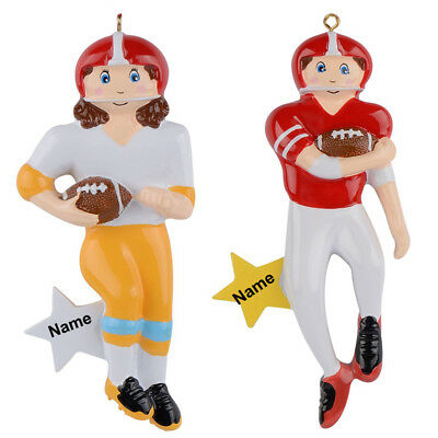 MAXORA Football Boy Football Girl Personalized Christmas Ornaments](Personalized Football Ornaments)