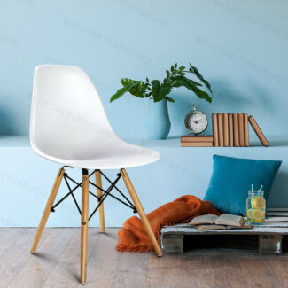 Affordable PP Seat Eames Eiffel Home Dining Chairs