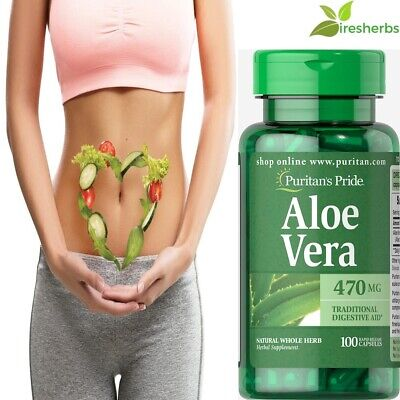 #1 BEST ALOE VERA 470mg DIGESTION STOMACH SOOTHING DIGESTIVE HEALTH 100