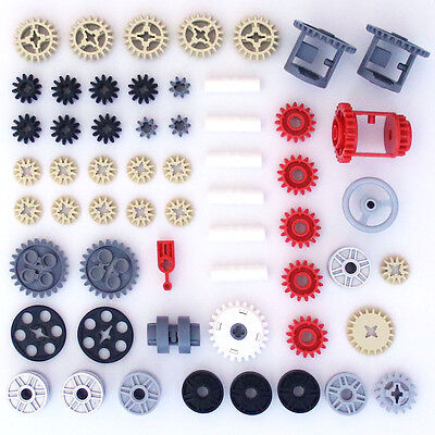 Lego Technic Gears Cogs Wheels Clutch Pulleys Differentials - 58 Parts - NEW - Lego Gear Set