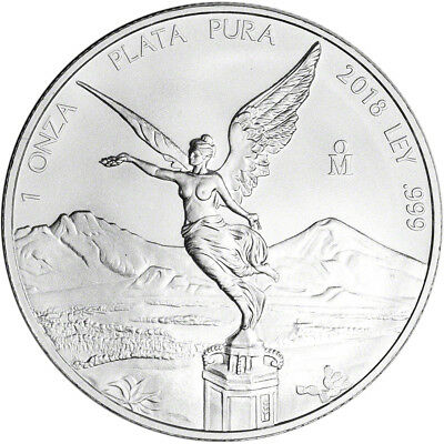 2018 Mexico Silver Libertad (1 oz) 1 Onza - BU