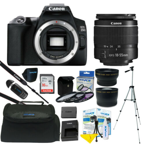 Canon EOS 250D / Rebel SL3 24.1MP 4K Digital SLR Camera + ALL YOU NEED KIT