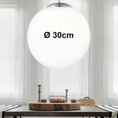 Luxus Hänge-Leuchte Ess Zimmer Tisch Beleuchtung Glas Kugel weiß Decken Pendel