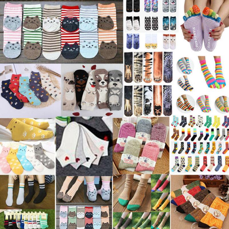 Unisex Cotton Casual Multi-Color Socks Hosiery Fashion Dress