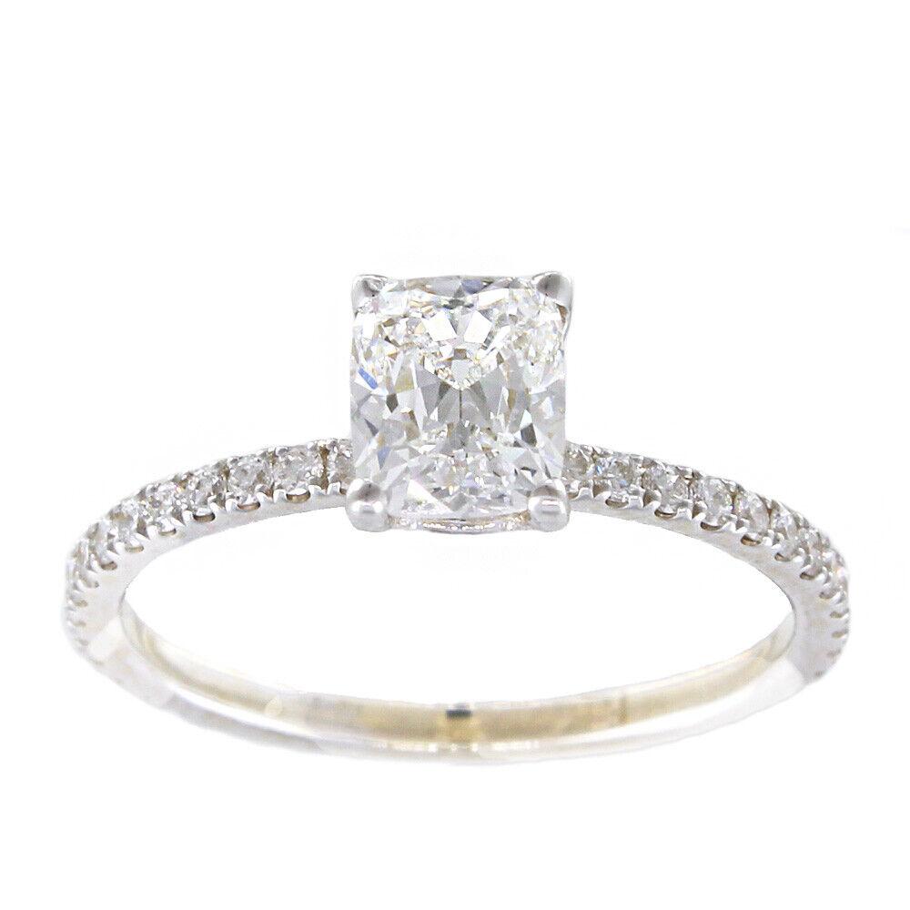 GIA Certified Diamond Engagement Ring 1.01 carat Cushion Shape 14K Gold VS1