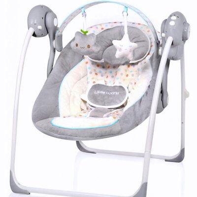 Elektrische Automatische Babyschaukel  Baby Wiege Wippe Little World Dots Neu