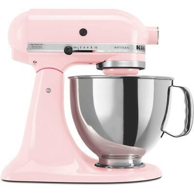 New KitchenAid Artisan KSM150PSPK 5 qt. 10-Speed Tilt Head Stand Mixer Pink Rose