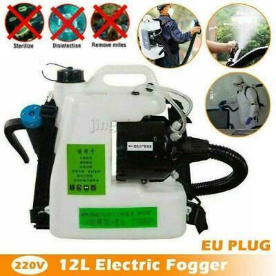 12L Backpack Electric ULV Fogger Sprayer Cold Fogging Machine 220V 1200W UK