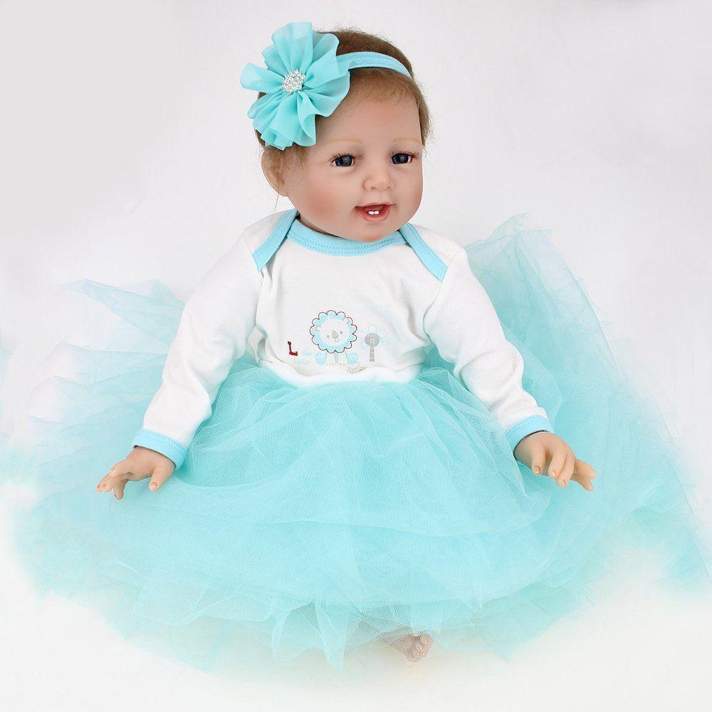 Realistic Reborn Baby Dolls Gift Soft Vinyl Silicone ...