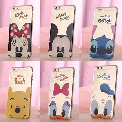 Cute Cartoon Disney Crystal Soft TPU Rubber Silicone Case Cover F iphone6 6 plus