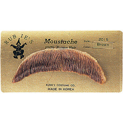 Mustache 70s (HUMAN HAIR BASIC CHARACTER MOUSTACHE 60S 70S COSTUME MUSTACHE TOUPEE TAPE)