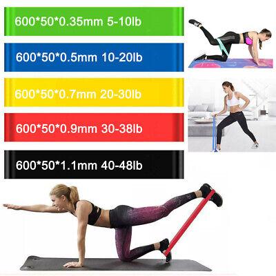 3x Breit Fitnessbänder Sport Fitnessband Widerstandsband Gummiband Gymnastikband