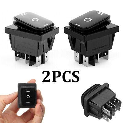 2pcs 6pin Dpdt On-off-on 3 Position Car Boat Rocker Switch Ac 6a250v 10a125v