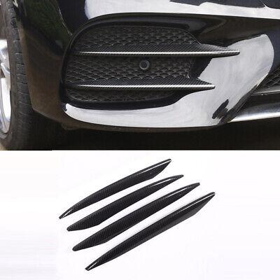 4xCarbon Look Front Flossen Flaps Canard Splitters für Mercedes W213 Sport 16-18
