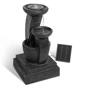 Solar Power Three-Tier Water Fountain Feature with LED Light - Bl Silverwater Auburn Area Preview